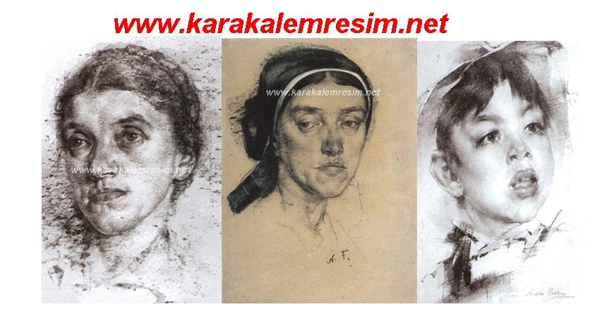 Eski Dönemlere Ait Karakalem çizimler Ve Ressamları Karakalem Resim