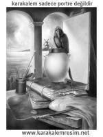 Karakalem çizimi demek sadece portreler den ibaret değildir manzara bulut papağan kitap kumaş masa tahta. eski yapılar vazo kalem bunların bir araya gelmesiyle bu şekilde bir eser ortaya çıkabiliyor.sutunlar ve evler yalılar istanbul boğazı şahane çıkar.