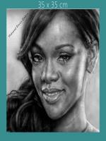 karakalem Robyn Rihanna Fenty yani kısaca rihanna çizimi,ünlü sanatçıların portreleri,çalışmaları,madonna,michael,jackson,www.doctormacro.com