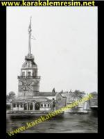 karakalem kız kulesi galatakarakalemle çalışan reesamlar istanbulun tarihi yerlerini ve eski görüntüleri ni çizmek boğazdaki yalılar köşkler saraylar hepsi muhteşem konuda ismail ac