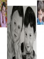 karakalem yağlı boya renkli kalem kuru pastel toz pastel çocuk çizimleri saçlarda kömür tozu kullanılmıştır sert silgi eraser kauçuk tarzında oil portrait charcoal drawing ordering for sale ebay gittigidiyor almak isteyen siapriş vermek istiyorum diyen sa