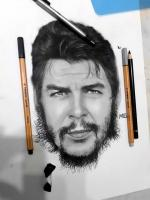 che guevera 4k hd wallpaper charcoal karakalem portre portrait pencils draw hiperrealism instagram official