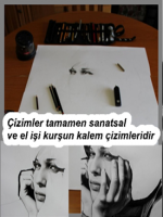 karakalem portre çizim aşamaları,karakalem el çizim teknikleri,karakalem efekti,avatarları,avatarı,avatar,örnekleri,