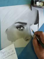 emma watson,karakalem portre,pencils,drawing,realistic,prizma color black 935 serisi kalem kullanıldı,steadler pencils portrait,faber castell 9000 serisi kullandım,scholler durex kağıt
