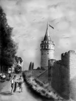 galata kulesi karakalem çizimi,galatakulesi eski görünümü,eskihali,ilk,hali,ottoman old history galata,eski istanbul resimleri,osmanlı dönemi istanbul,glta klsi,tarihi çizimler,eserler,istanbulun eski tarihi eserleri,çizimleri,resimleri,ilk fotoğrafları,