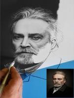 haluk bilginer karakalem portre calismasi,sinama aktor,tiyatrocu,ödüllü türk sanatcılari realist cizimler,türk ressamlar,en iyi karakalem ressamlari,mehmet emin dogan