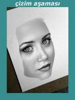 Karakalem A4 kağıda portre çizimi.A3 ebat,A3 EBAT 30 X 40 CM DİR. 35 x 50 cm 50 x 70 cm çalışmalar,örnekler