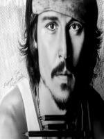 karakalem portre ünlü çizimleri,çalışmalarına bir örnek daha,johnny deep film artisti,karayip korsanları filmi başrol oyuncusu,pencils,drawing,realism,hiperrealis çizimlere örnekler,ünlü türk ressamlar,internet üzerinden karakalem portre siparisi vermek