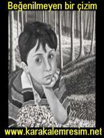 karakalem portre beğenme garantisi verdiğim için müşterinin beğenmediği bir portre örneği.karakalemde hataları görmek için tecrübe etmek açısından arşivlediğim bir çalışma örneği,arka fona karakalem manzara resmi eklendi,ağaç,çimenlik,gölgelendirmesi yap