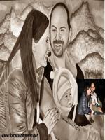 nasuh mahruki ve mine hanım bebek barlas karakalem portre çizimi,evereste ilk çıkan türk dağcı ali en kaliteli yüksek çöznürlüklü,fotoğrafları,nereli,afat,afet,dağ,sporları,kayak,resmi,resimleri,mie mahruki